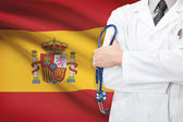 Concept of national healthcare system - Spain — Stock Photo