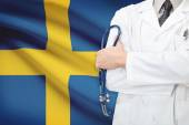 Concept of national healthcare system - Sweden — Stock Photo