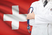 Concept of national healthcare system - Switzerland — Stock Photo
