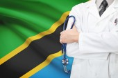 Concept of national healthcare system - Tanzania — Stock Photo