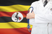 Concept of national healthcare system - Uganda — Stock Photo