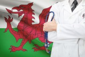 Concept of national healthcare system - Wales — Stock Photo