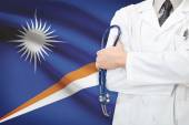 Concept of national healthcare system - Marshall Islands — Stock Photo