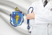 Concept of US national healthcare system - state of Massachusetts — Stock Photo