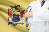 Concept of US national healthcare system - state of New Jersey — Stock Photo