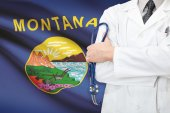 Concept of US national healthcare system - state of Montana — Stock Photo