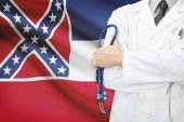 Concept of US national healthcare system - state of Mississippi — Stock Photo
