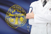 Concept of US national healthcare system - state of Nebraska — Stock Photo