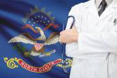 Concept of US national healthcare system - state of North Dakota — Stock Photo