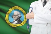 Concept of US national healthcare system - state of Washington — Stock Photo