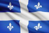 Canadian provinces flags series - Quebec — Stock Photo