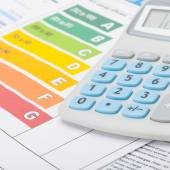 Energy efficiency chart and calculator - 1 to 1 ratio — Stock Photo