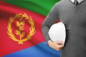 Architect with flag on background  - Eritrea — Stock Photo