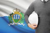 Architect with flag on background  - San Marino — Stock Photo