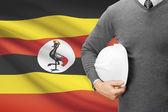 背景 - ウガンダの旗と建築家します。 — ストック写真