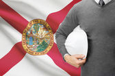 Engineer with flag on background series - Florida — Stock Photo
