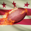 American football ball with flag on backround series - District of Columbia - Washington, D.C. — Stock Photo #54496161