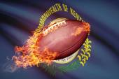 American football ball with flag on backround series - Kentucky — 图库照片