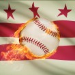 Baseball ball with flag on background series - District of Columbia - Washington, D.C. — Stock Photo #54762701