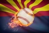 Baseball ball with flag on background series - Arizona — Stock Photo