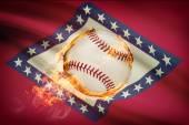 Baseball ball with flag on background series - Arkansas — Stock Photo