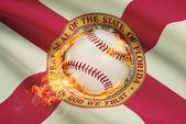 Baseball ball with flag on background series - Florida — Stock Photo