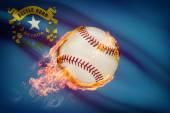 Baseball ball with flag on background series - Nevada — Stock Photo