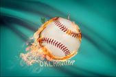 Baseball ball with flag on background series - Oklahoma — Stock Photo