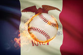 Baseball ball with flag on background series - Iowa — Stock Photo