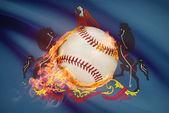 Baseball ball with flag on background series - Pennsylvania — Stock Photo