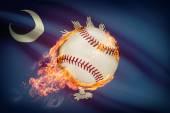 Baseball ball with flag on background series - South Carolina — Stock Photo