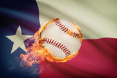 Baseball ball with flag on background series - Texas — Stock Photo