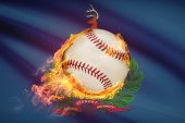 Baseball ball with flag on background series - Vermont — Stock Photo