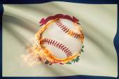 Baseball ball with flag on background series - West Virginia — Stock Photo