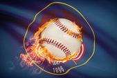 Baseball ball with flag on background series - Utah — Stock Photo