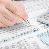 United States of America Tax Form 1040 - 1 to 1 ratio — Stock Photo