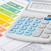 Energy chart and calculator - 1 to 1 ratio — Stock Photo