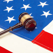 Judge gavel with US flag - 1 to 1 rato — Stock Photo