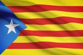 Series of ruffled flags - Catalonia - Estelada — Stock Photo