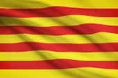 Series of ruffled flags - Catalonia — Stock Photo