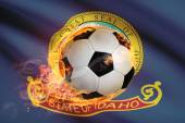 Soccer ball with flag on background series - Idaho — Stock Photo