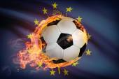 Soccer ball with flag on background series - Indiana — Stock Photo