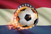 Soccer ball with flag on background series - Missouri — Stock Photo