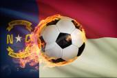 Soccer ball with flag on background series - North Carolina — Stock Photo