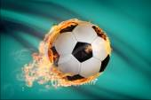 Soccer ball with flag on background series - Oklahoma — Stock Photo