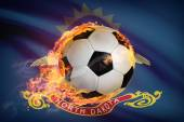 Soccer ball with flag on background series - North Dakota — Stock Photo
