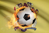 Soccer ball with flag on background series - New Jersey — Stock Photo