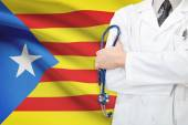 Concept of national healthcare system - Catalonia - Estelada — Stock Photo