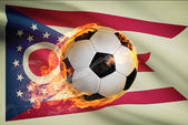 Soccer ball with flag on background series - Ohio — Stock Photo