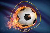 Soccer ball with flag on background series - Utah — Stock Photo